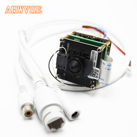 AHWVE DIY Audio 1080P 2MP IP Camera module Board with RJ45 Cable ONVIF H264 Mobile APP XMEYE CMS 3.7mm Lens Support SD Card