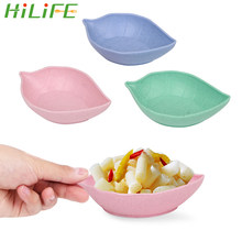 HILIFE Baby Kid Bowl Plate Gadgets Tableware Food Container Sauce Dishes Cooking Tools Wheat Straw Leaf Dish Kitchen Accessories(China)