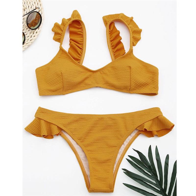 Meihuida Swimwear Beach Women Bikini 2019 Bikini Bathing Suit Women Push-up Padded Bra Bandage Swimsuit Swimwear Women XS-XL