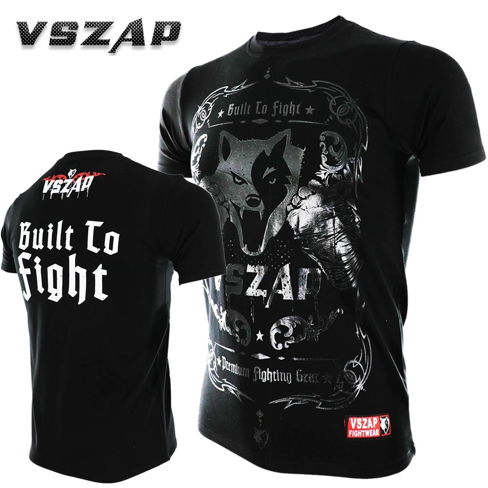 VSZAP MMA Clothing Shirts Rashguard Fitness Base Layer Skin Tight Weight Lifting Men T Shirts Muay Thai Shorts Boxe