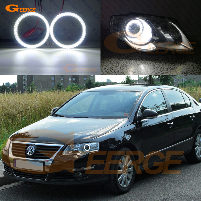 100% QualitäT Für Volkswagen Vw Passat B6 Magotan Halogen Scheinwerfer 2006-2010 Ausgezeichnete Ultra Helle Beleuchtung Smd Led Angel Eyes Kit Drl