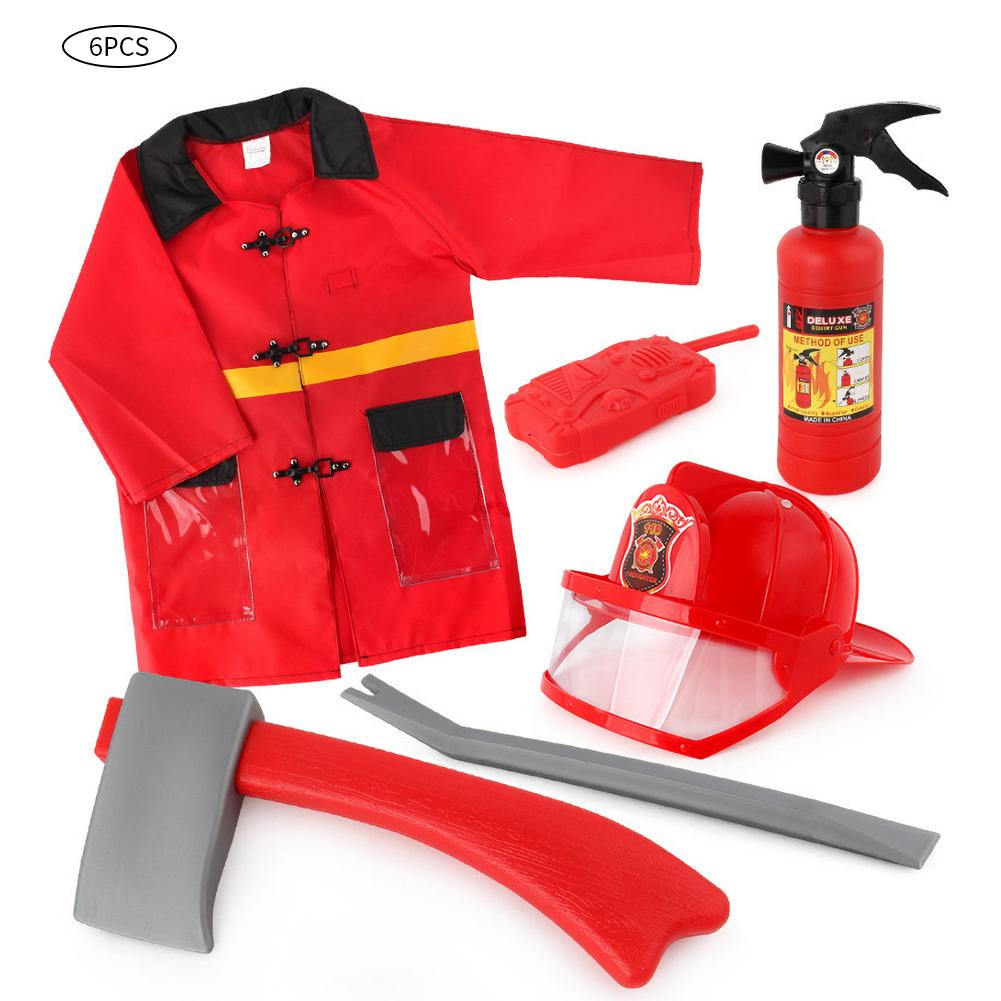 Children's Toy Fire Cap Fire Extinguisher Water Gun Firefighter Play Suit Waterproof Fire Service Stage Show Props Children Toy