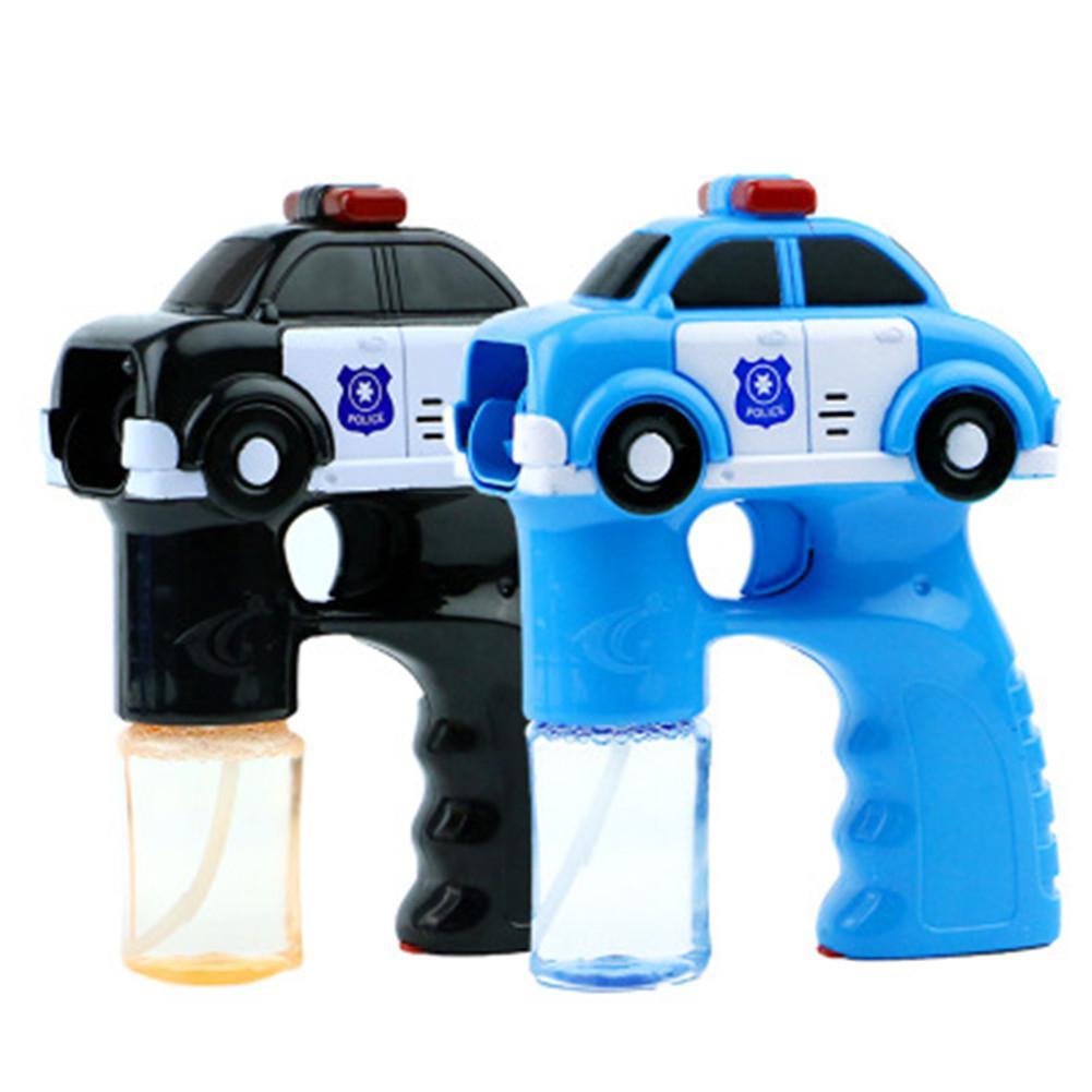 Koop Goedkoop Full-automatische Blauwe Auto Vorm Bubble Machine Lichte Muziek Speelgoed Voor Kids Zomer Spelen Water Strijd Speelgoed Voor Politie Auto Blauw