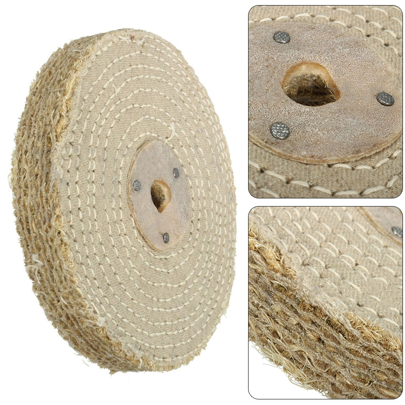 1 X 150*20mm 6'' Sisal Cloth Buffing Wheel For Stainless Steel Metal Polishing Tool Accessories
