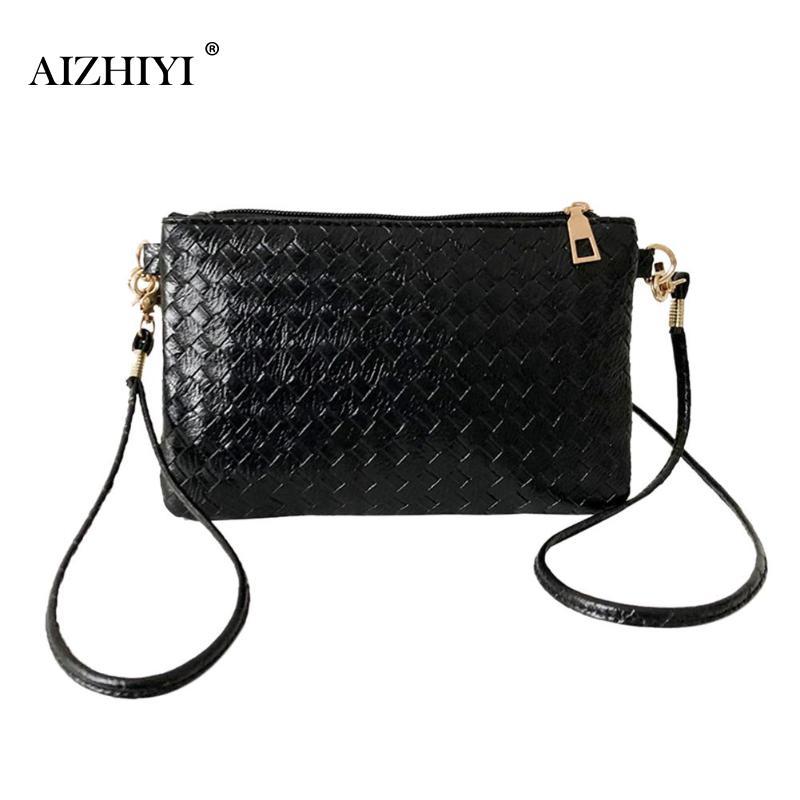 Women Plaid Shoulder Messenger Bag Girls Black PU Leather Handbag Female Ladies Casual Crossbody Sling Bags shoulder bag