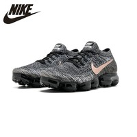 Nike AIR VAPORMAX FLYKNIT Breathable Men's Original New Arrival Running Shoes Dark Grey Sports Sneakers #849558 010