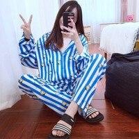 New Arrival Bt21 Love Yourself Quality Bts Pajamas Sets Kpop Bangtan Boys BT21 Cartoon Nighty Men Women Bedgown Sleepwear Set