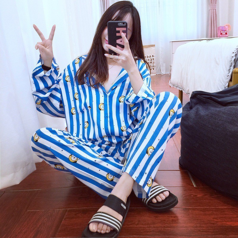 New Arrival High Quality Kawaii   Pajamas     Sets   Funny Cartoon Nighty Men Women Bedgown Sleepwear   Set   For Couple Cute Pijamas