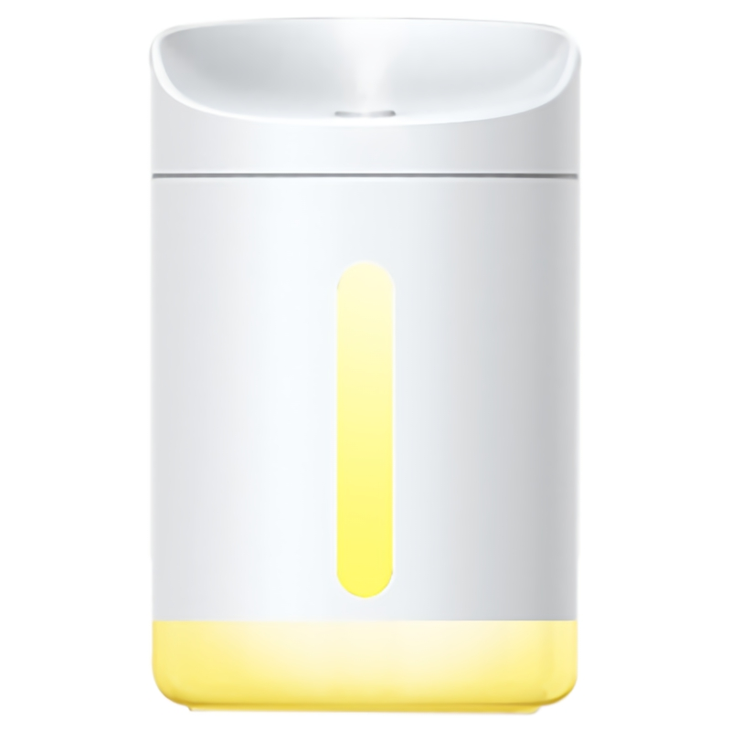 EAS-340Ml White Air Humidifier Essential Diffuser For Home Car Aromatherapy Aroma With Lamp