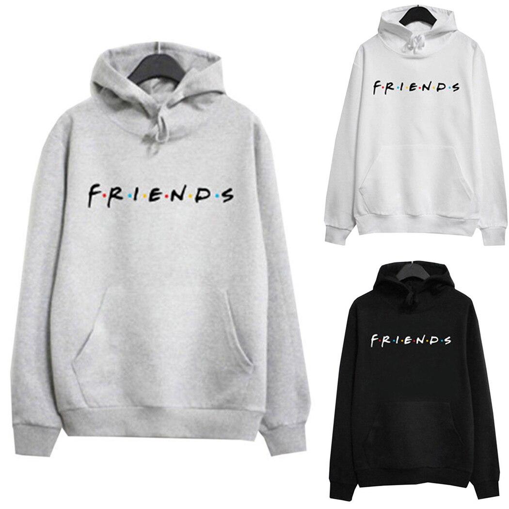 US $8.43 42% OFF|Harajuku Letter Friends Women Hoodies Casual Hooded Sweatshirt Autumn Winter Tracksuits Streetwear Female Loose Pullover Moletom in