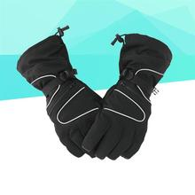 1Pair Winter Bicycle Gloves Free Size Cold Weather Anti-slip Windproof Thermal Waterproof Gloves For Practice Push Cart Golf