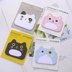 Большой кот серии блокноты для записей Липкие заметки свободный лист декоративные наклейки офисные канцелярские принадлежности Школьные