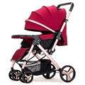 Babyfond Высокая Пейзаж двусторонний может сидеть Лежащая коляска Путешествия простая и щедрая детская коляска