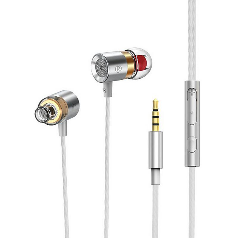 Sound Insulation Noise Reduction In-Ear Earbuds Bass Single-action In-ear Headphones Compatible Mobile Phone Tablet Mp3 With Mic