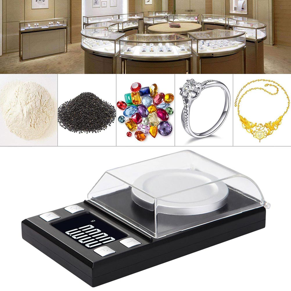100g/0.001g High Precision Jewelry Scale Balance Electronic Jewelry Scale Digital Packet Scale