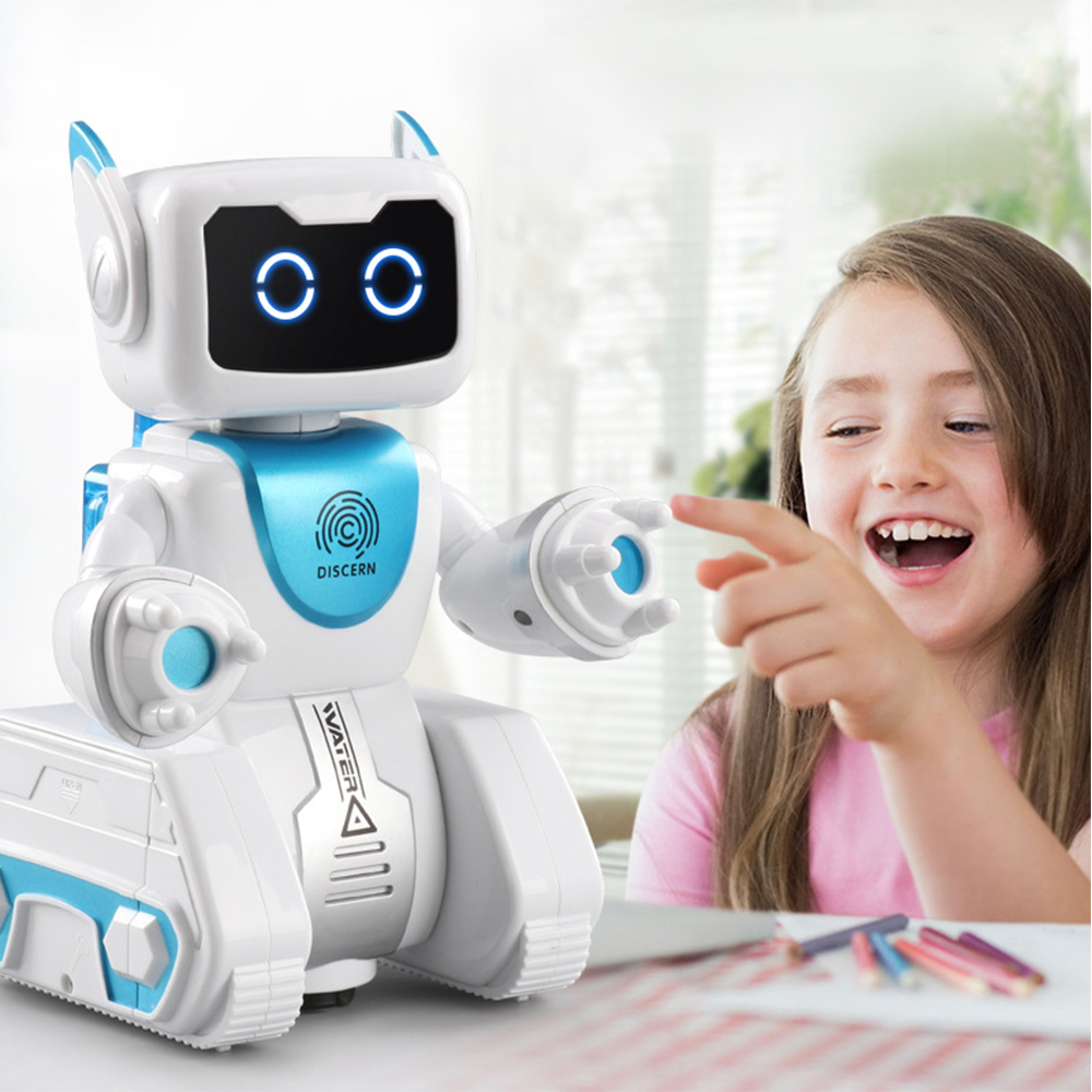 RC Robot Hydroelectric Hybrid Automatic Steering Remote Control Robot Fingerprint Sensing Automatic Steering Intelligent Toy