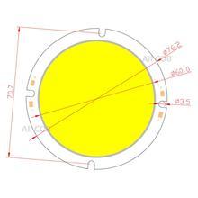 allcob 76mm Round LED COB Light Source 20W 30-33V DC High Lumen Power Module chip on board for downlight