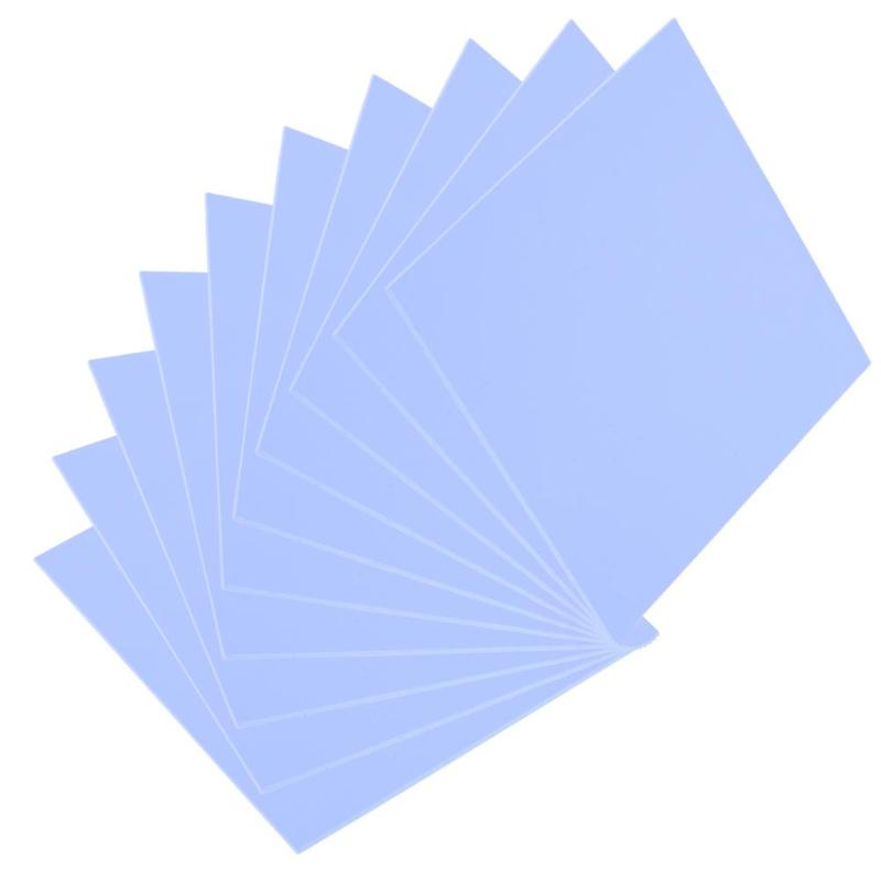 100x100mm 0.5mm Silicone Thermal Pad Sheet Computer Cpu Graphics Chip Heat Sink Heatsink Cooling Conductive Thermal Pad New To Enjoy High Reputation In The International Market