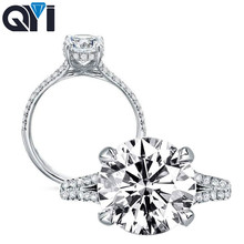 QYI For Women Ring 925 Sterling Silver 5 ct Round Cut Sparkling Zirconia Wedding Rings Engagement Jewelry