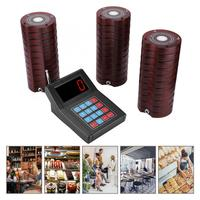 SU 668 30 Receiver Pager Waiter Calling Wireless Paging Queue System Red 100 240V Waiter Pager System 2019