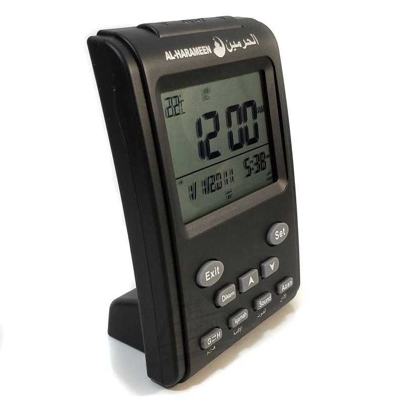 Muslim Gift FAJR Clock for Muslim 3011 1500 city Fajr 130x98mm Clock with Prayer Alarm Muslim Praying Islamic Azan table clock
