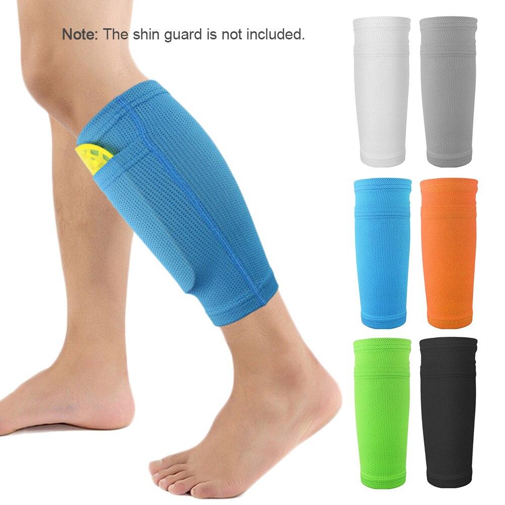 2 PCS Soccer Shin Pads Guard Football Leg Support Sleeve Protector Football Calf Socks Breathable Protective Sleeves With Pocket