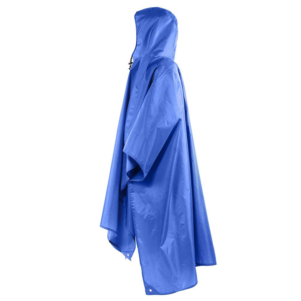Raincoat, Floor mat, Rain cover 3 in 1 Multifunctional Portable Raincoat with Hood Hiking Camping Mat Cycling Rain Cover Ponch