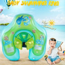 Float Baby Swim Ring Inflatable Flat Swimming Trainer Safety Neck Float Pool Water Fun Toy Kids Circle Safety Bathing Pool(China)