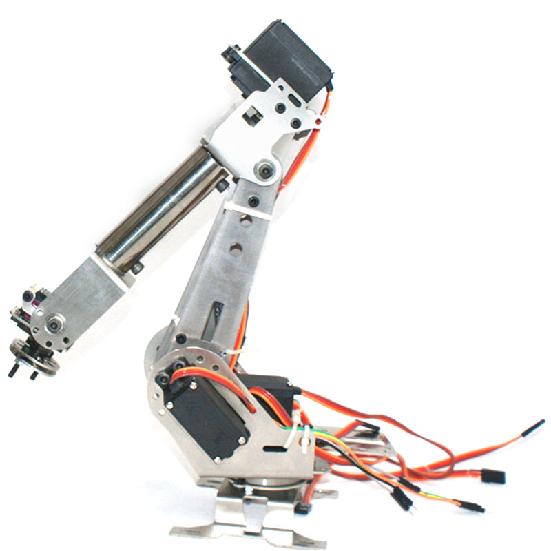 US $209 99 News LOBOT 6DOF Scratch Metal RC Robot Arm Programmable