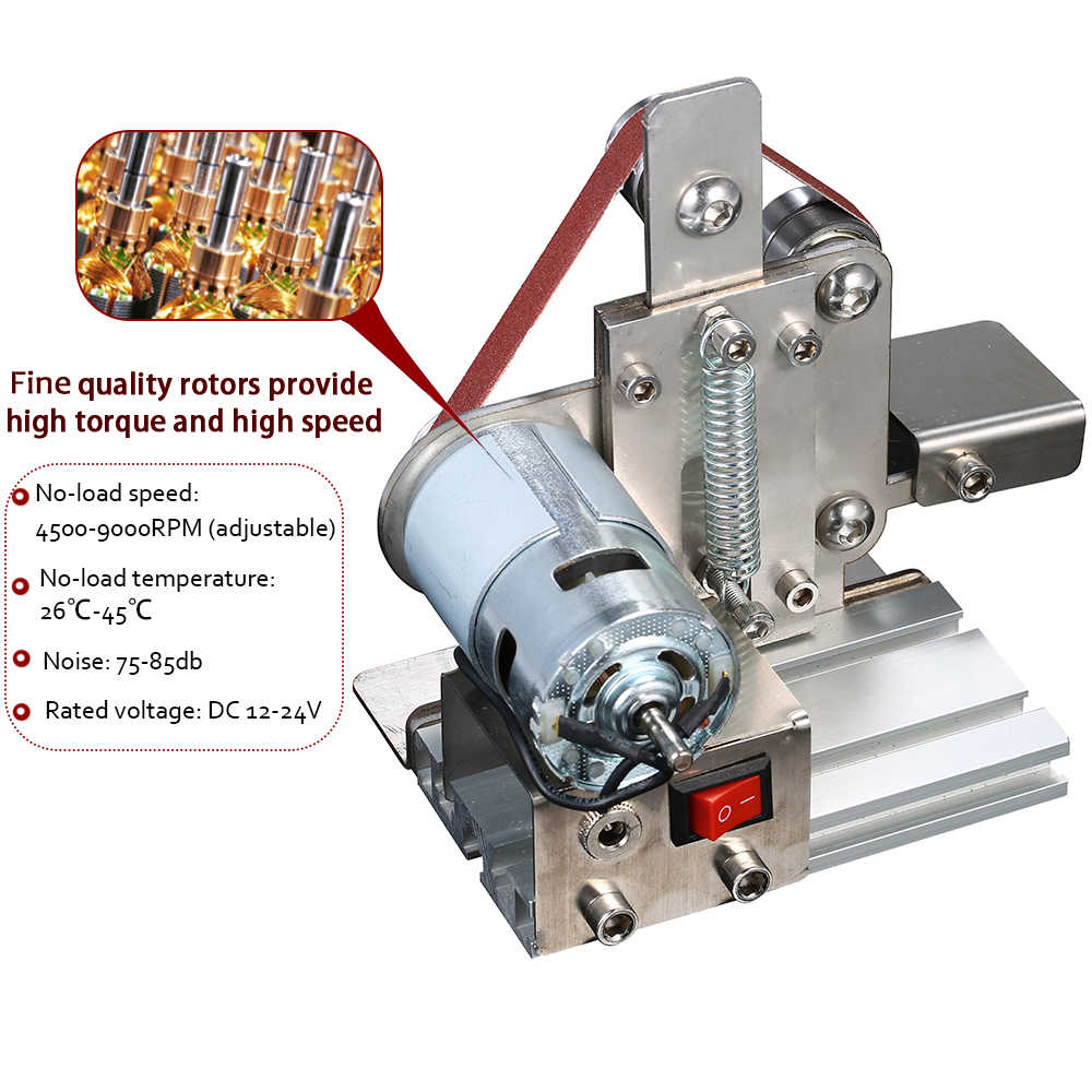 מטחנה רב תכליתי מיני חשמלי חגורת סנדר DIY ליטוש מכונת גריסה קאטר קצוות מחדד חשמלי זווית מטחנות
