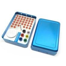 36 Holes Dental Bur Holder Block Dental Sterilizer Case Autoclave Disinfection Box