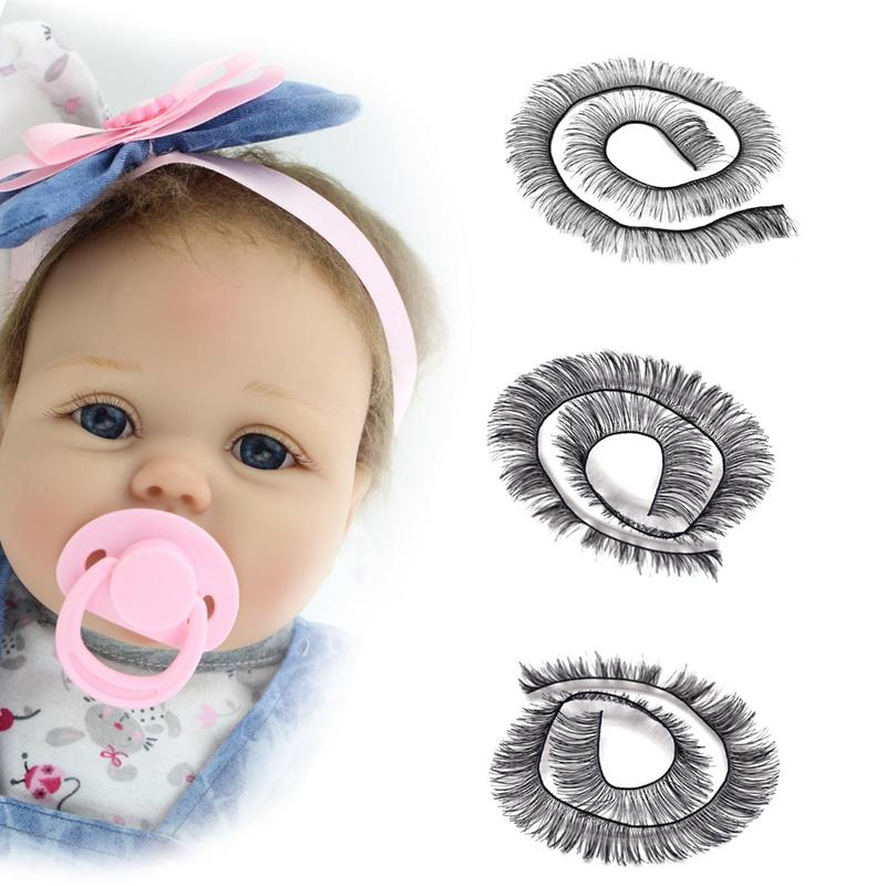 20cm Eyelashes For Baby Dolls Accessories Kids Children Toy Doll False Eyelashes 2 Colors Support Wholesale