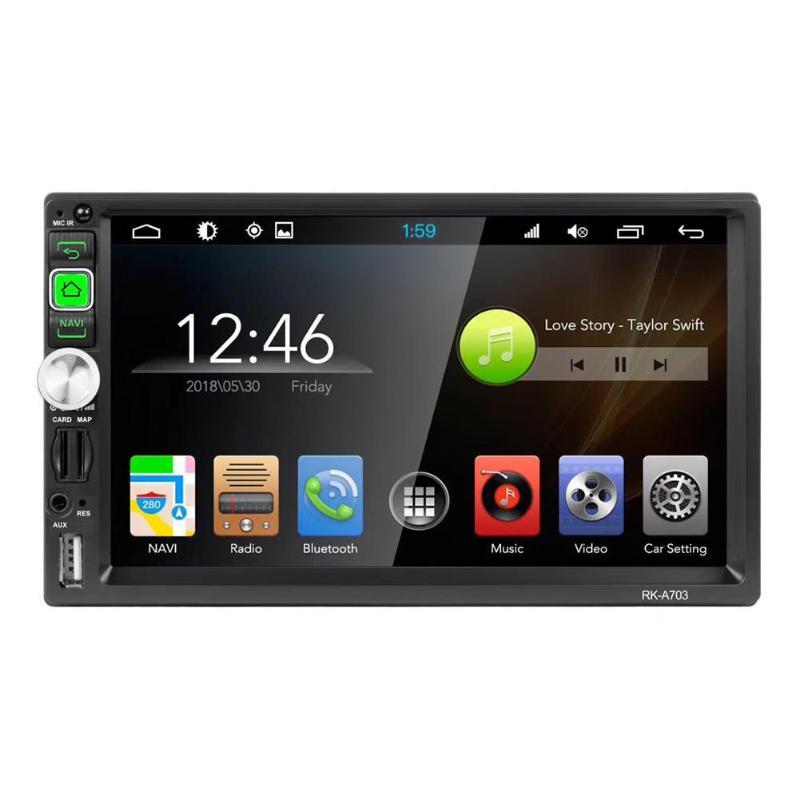 VODOOL 7 pouce Android 7.1 Bluetooth WiFi Voiture Stéréo MP5 Lecteur GPS Navigation AM FM Radio Tête Unité L'image D'inversion lecteur vidéo
