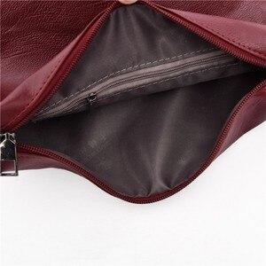 Image 5 - Bolsos de cuero de 2 pc/s para mujer, bolsa de mano femenina de alta calidad, gran capacidad, 2019