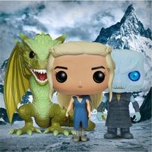 Официальный FUNKO поп-Игра престолов #25 Daenerys мать драконов #44 ночной король модель виниловая кукла подарок на день рождения фигурка