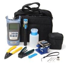 Para FC-6S de fibra óptica FTTH Kit de herramienta de fibra y AUA-60S cuchilla de la fibra óptica de Meter3-5KM Visual buscador de localizador de stripper