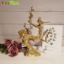 Bronze pure copper hilarious creative home decoration ornaments wedding gift magpie Deng Mei crafts furnishings
