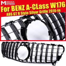 Fit For W176 without emblem Front Bumper Grille A-Class A180 A200 A250 A45 GTS Style Silver Bumer 2016-in