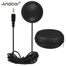 Desktop Omni directional Microphone with 3.5mm Jack for Computers Laptops Portable High Sensitivity Mic for Conference Meeting