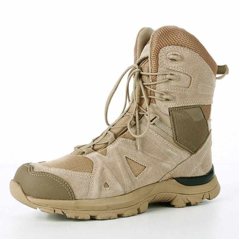 Homme Militaire Tactique Combat Bottes De Randonnée Outdoor Desert Chaussures Entraînement Chaussures