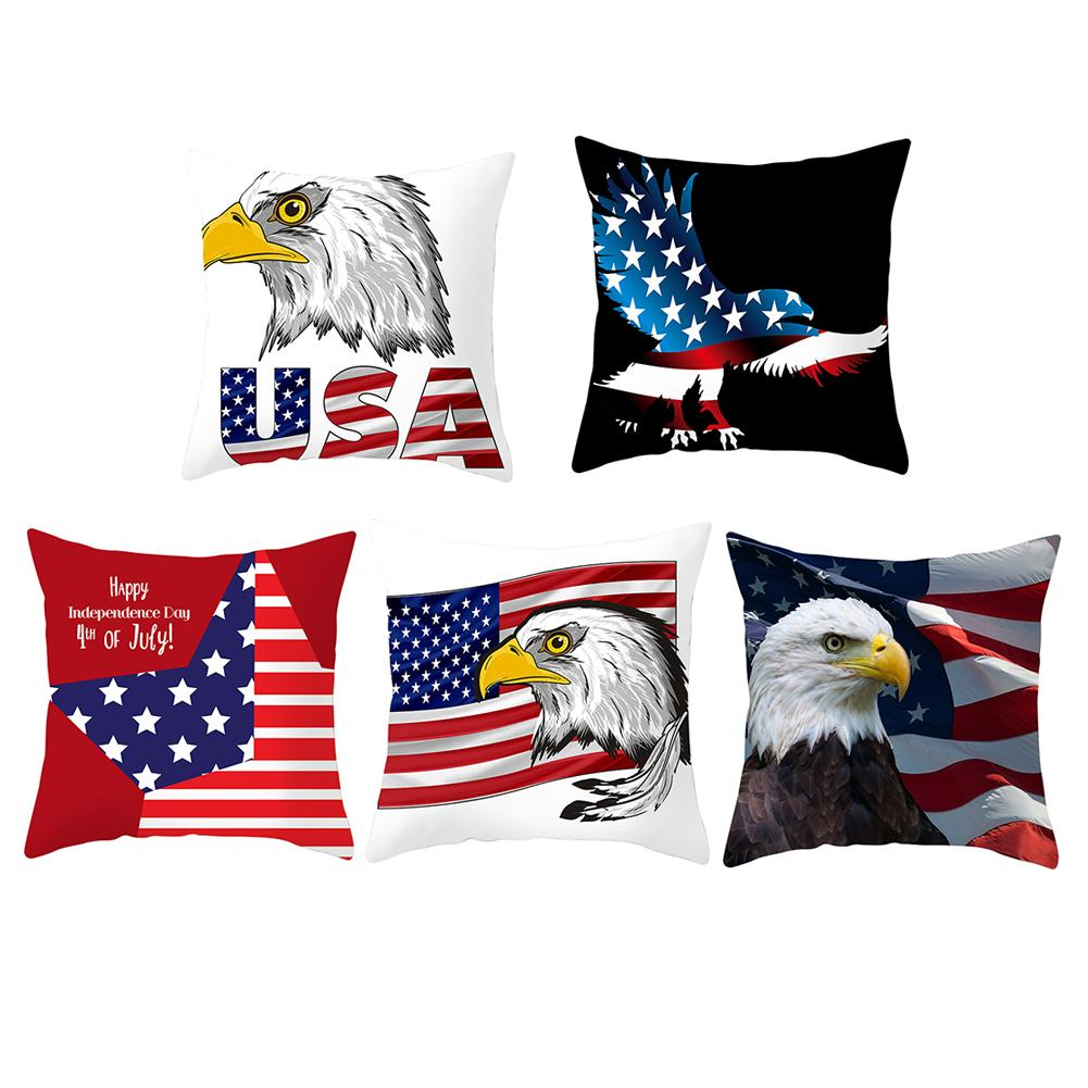 45*45cm American Flag Pillowcase American Independence Day Decorative Pillow Cover Pillow Case