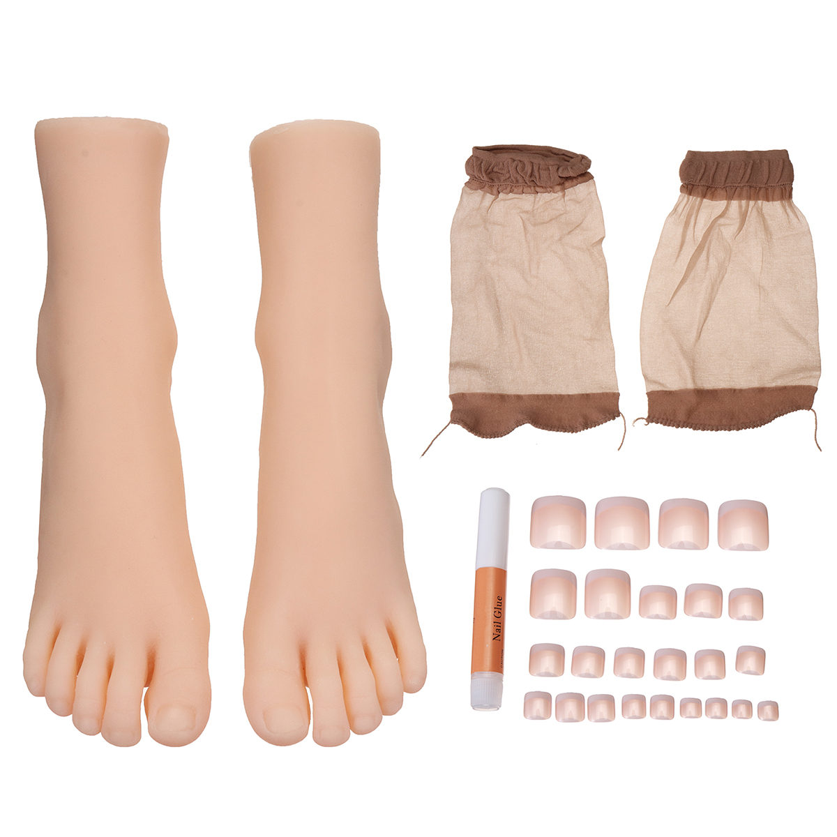 1 Pair 29 Size Female Silicone Girl Feet Mannequin Foot Model Shoes Anckle Chains Display Model Art Sketch Display Sandal Socks