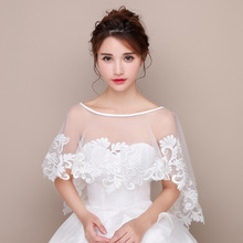 New bride shawl wedding epaulet cape over the head of a thin sun