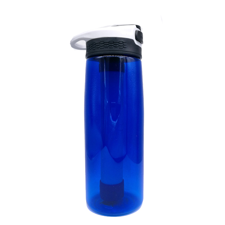 650ml Water Filter Cup Purifier Cleaner Bottle Survival Drinking Tool Kit Outdoor Sport