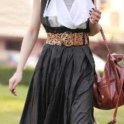 Мисс М Модные Match-All выдалбливают искусственная кожа Платье с поясом Рубашка украшения аксессуары Пояс широкий пояс для Для женщин