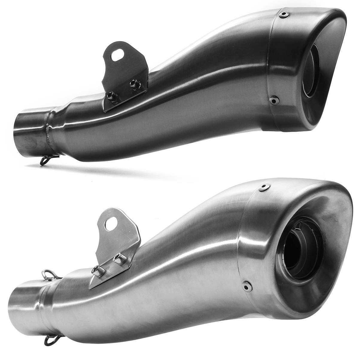 36-51mm dauphin forme moto moto ATV en acier inoxydable GP pot d'échappement tuyau sans lacet trompette Type universel pour Honda