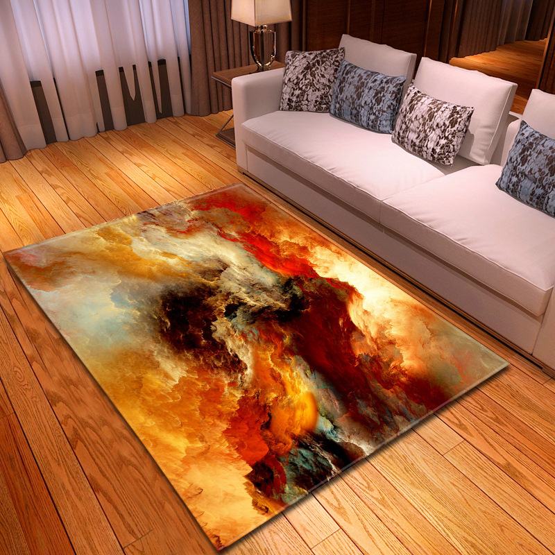 New Glamorous Flaky Clouds Printed Rugs Soft Carpets For Home Living Room Bedroom 8 Colors 3