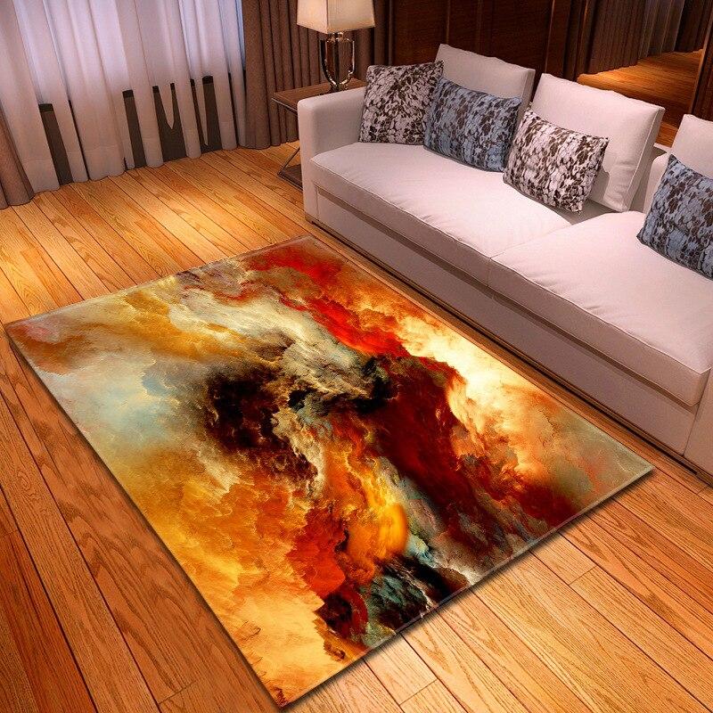 Nouveau glamour nuages feuilletés imprimé tapis tapis doux pour la maison salon chambre 8 couleurs 3 tailles tapete para sala alfombras