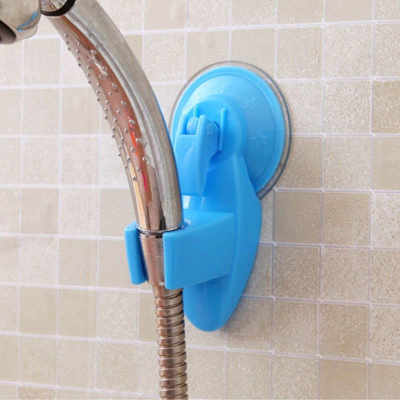 Bathroom Strong Attachable Shower Head Holder Movable Bracket Powerful Suction ShowerSeat Chuck Holder Suction Cup