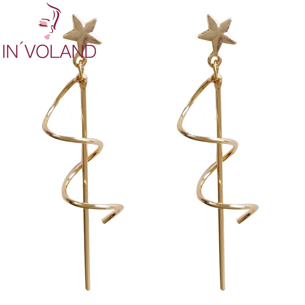 New Women Fashion Earrings Jewelry Trendy Spiral Shape Charm Pair of Wedding Gift Casual, Party, Dating